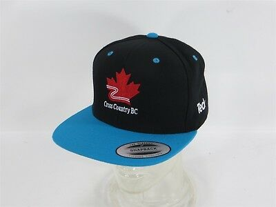 Cross Country Bc X Country Skiing Teck Blue And Black Snapback Classic Hat