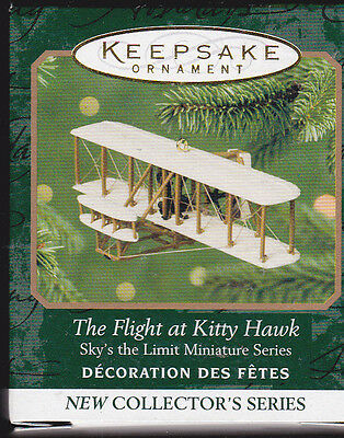 2001 Hallmark The Flight Kitty Hawk Sky's the Limit Series Miniature Ornament