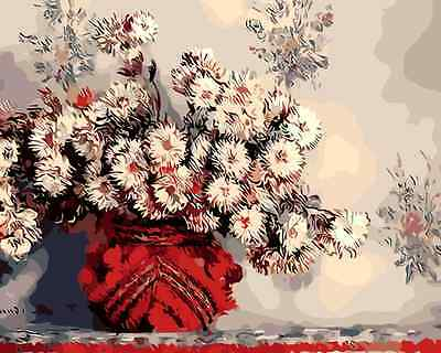 Large Paint By Number Kits S2 40*50CM DIY Still Life with Flowers 8140 AU STOCK