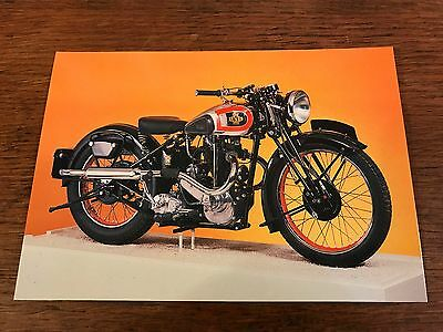 """1939 600cc """"D Special"""" Levis National Motorcycle Museum Postcard"""