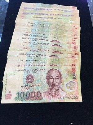 50 Vietnam  10000 Dong Notes F To AU Total 500.000 Dong