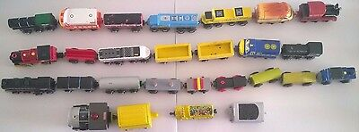 Lot of 23 Various Wooden Train Magnet Engine Car