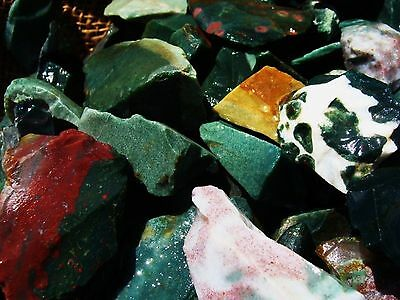 500 Carat Lots of Bloodstone Rough + A very nice FREE faceted Gemstone