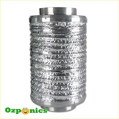 2x HYDROPONICS 6 INCH INLINE NOISE REDUCER/SILENCER Duct Muffler For Ventilation