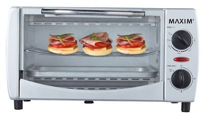 Maxim 1000W 9L Electric Toaster Oven/60 Min Timer/Toast Grill for Home/Caravan