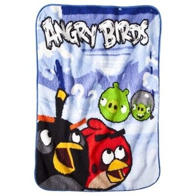 """New Angry Birds Throw Blanket and Tote Bag Set 40""""x 50"""""""