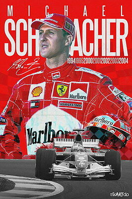 "039 Michael Schumacher - Mercedes Germany F1 Racing Driver 14""x21"" Poster"