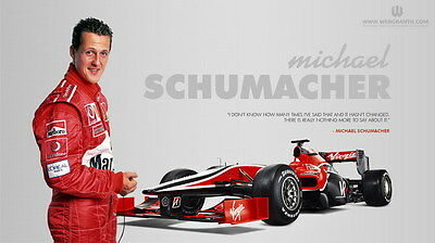 "035 Michael Schumacher - Mercedes Germany F1 Racing Driver 24""x14"" Poster"
