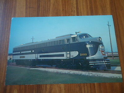 Vintage Wabash Railroad Diesel Locomotive #1000 Information Card