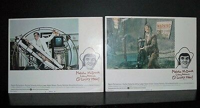 O'lucky Man Malcolm McDowell 1973 2 11x14 Original U.S lobby cards in Toploaders