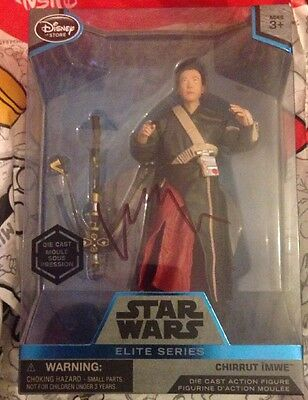Donnie Yan Star Wars Rogue One Chirrut Imwe Signed Figure & 20 Photos As Proof