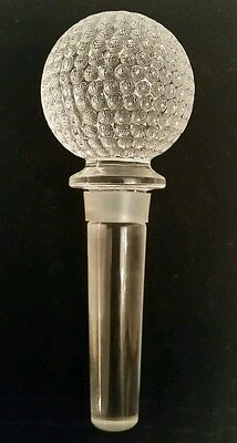 """Large 4.5"""" Crystal Glass Bottle Decanter Stopper Excellent Condition!"""