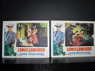Law of the Lawless  1964 2 11x14 Original U.S lobby cards #5 + #8 in Toploaders