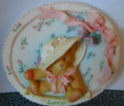 Cherished Teddies Priscilla Hillman Mini Wall Plaque 1994 #104140 Original Box