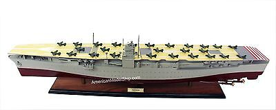 Hasegawa Japanese Navy Aircraft Carrier Akagi Handcrafted Wooden Warship Model
