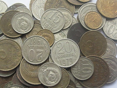 RUSSIA RUSSIAN Big Lot of the 100 coins USSR