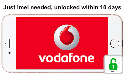 IMEI ONLY Fast unlocking service for apple iPhone 6s and 6s plus on vodafone