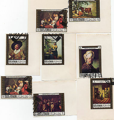 Set of 8 Stamps from State of Oman