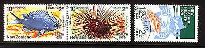 New Zealand 1979 Health with Joined Pair Complete  set - Fine Used