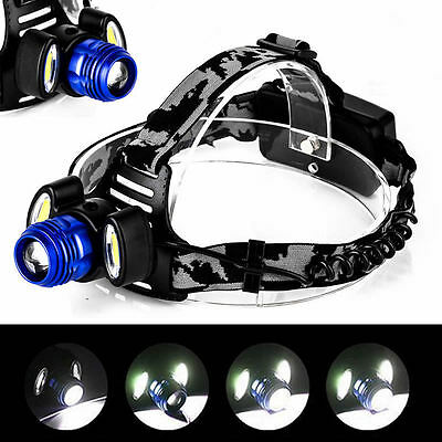 15000LM 3x XML T6 LED Rechargeable Headlamp HeadLight Torch Lisht USB Lamp