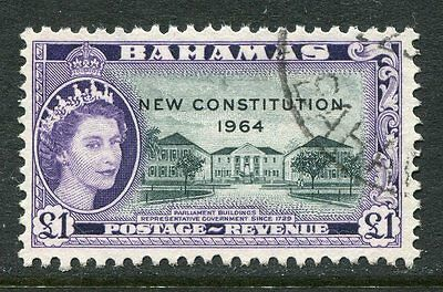 Bahamas: 1964 New Constitution £1 stamp SG243 Fine Used AE003