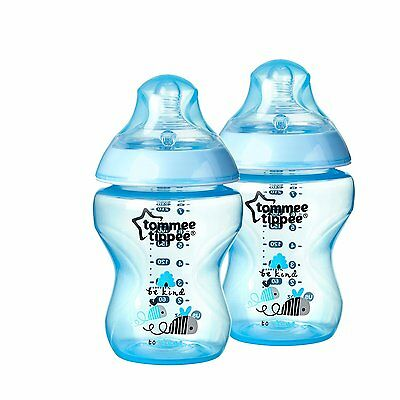 Tommee Tippee Bottles, Boy Deco, 9 Ounce, 2-Count
