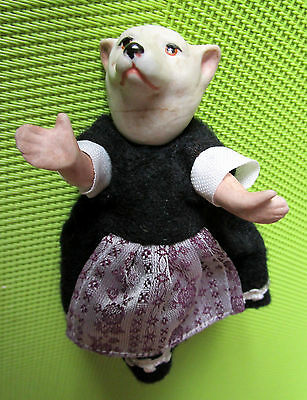 Antique anthropomorphic bisque comic doll ice/polar  bear   -Germany