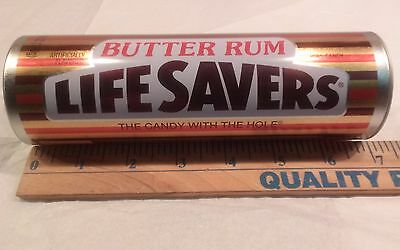 Life Savers Candy Butter Rum Tin Metal Canister Container Collector