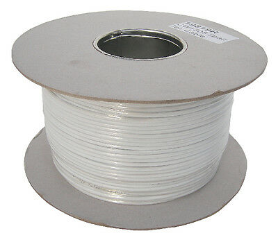 2 Pair White Telephone Cable (4 Core) - FULL 200m DRUM! Top Spec Trade BT Cable