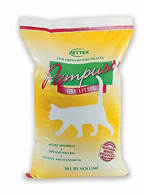 Pettex Pampuss Woodbase Cat Litter 30 Litre Brown Wood  - UK BASED SELLER