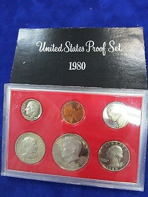 1980 USA Proof Set of 6 Coins.