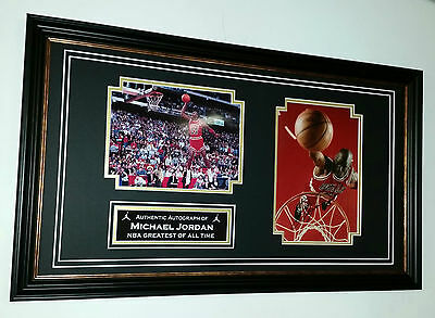 *** Rare MICHAEL JORDAN Chicago Bulls Signed Photo Picture Autograph Display ***