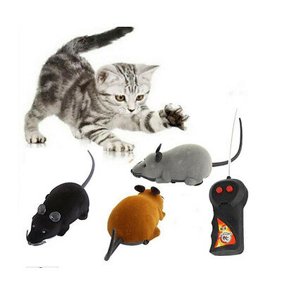 Funny Remote Control RC Rat Mouse Wireless For Cat Dog Pet Toys Gift Novelty