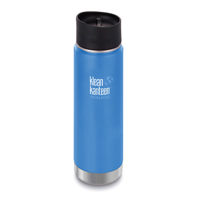 KLEAN KANTEEN 592ml 20oz INSULATED WIDE DEEP SEA BLUE Water Coffee Soup Bottle