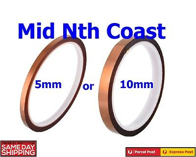 1Roll x 5/10mmx30m(100ft) Kapton High Temperature Tape Heat Resistant Polyimide
