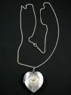 Genuine Vintage Feature Hand Winding Ladies Small Pendant Watch Plus Chain