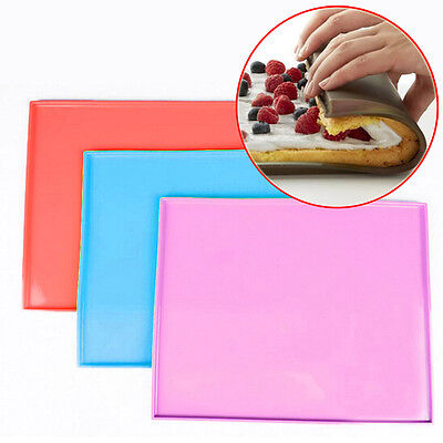 Silicone Sushi Baking Pizza Pan Swiss Cake Roll Mat Chocolate Home Kitchen Tool