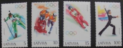 Winter Olympic games stamps, Latvia, 1994, skating, bobsleigh Ref: 384-387, MNH
