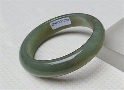 "New Certified 100% Natural Green ""Grade A"" Xinjiang Hetian Jade Bracelets 58Mm"