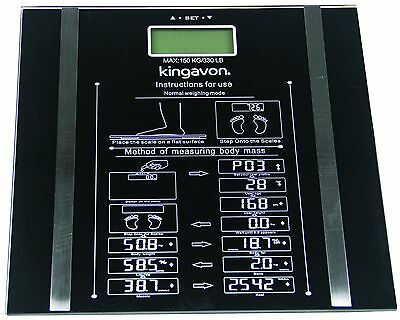 Digital Body Fat Analyser Scales BMI Weighing Scale Weight Loss 150Kg