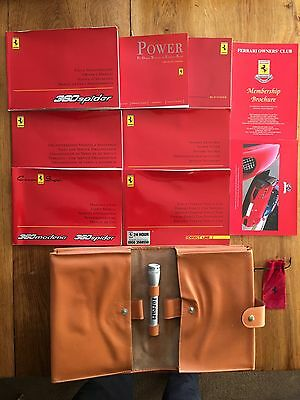 Ferrari 360 Spider Owners Handbook/Manual and Pack