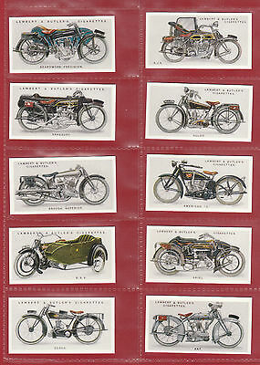 Motor Cycles - Set Of 50 Lambert & Butler ' Motor  Cycles ' Cards - Reprints