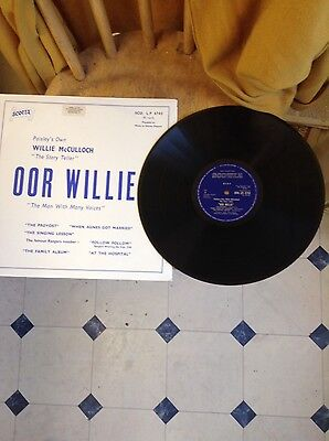 Willie Mcculloch Oor Willie Rare Vinyl Lp 1973 Glasgow Rangers Interest
