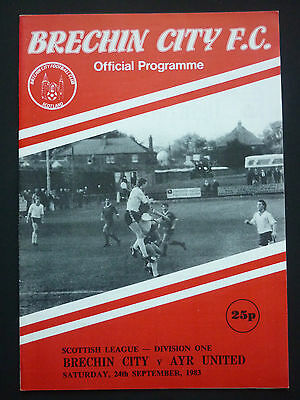 Brechin City V Ayr United 24/9/1983