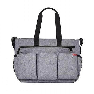 Skip Hop Twins Signature Baby Changing Nappy Bag - Double Duo Heather Grey