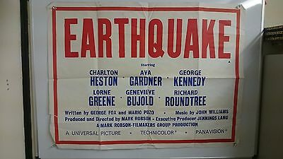 Earthquake Original Quad Movie Film Poster Rare 1974  Large