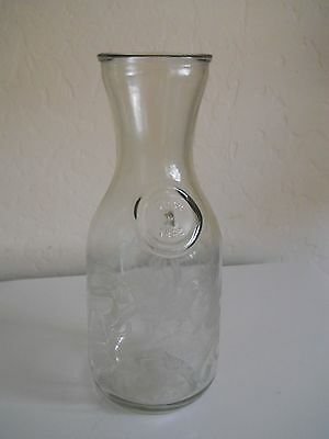 Vintage Embossed Paul Masson Since 1852 Glass Milk Bottle/wine Carafe