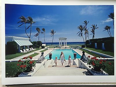 """'NEO CLASSICAL POOL' by Slim Aarons - Original 12x16"""" C-type photograph"""