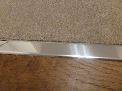 Door Plate Threshold Polished / Satin Chrome Effect Z Plate