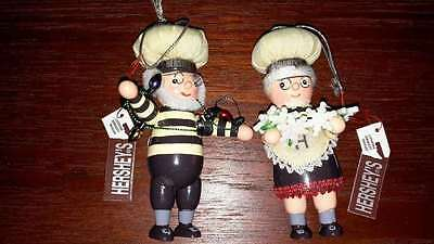 Hershey's Collectible Man String Of Lights & Lady String Of Snowflakes Mib 2003